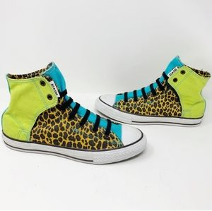 Bright Leopard Converse High Top Shoes